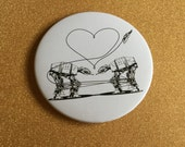 Giant 3.5 Inch AT-AT Magnet - Star Wars Magnet, Refrigerator Magnets, Star Wars Gift, All Terrain Armored Transport, Star Wars Party