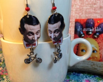 Pee Wee Herman Earrings Pee Wees Play House  Big Adventure  I know you are, but what am I