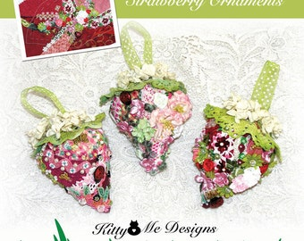 Crazy Quilt Strawberry Ornaments Instructional Book