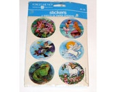 Vintage 1984 Fairy Unicorn Sealed Pack of Stickers American Greetings