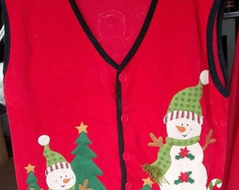 Vintage Tacky Ugly Christmas Vest Christmas Party
