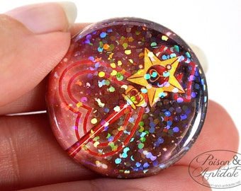 Holographic Sailor Mars in Space Pin - 1.25 pinback button