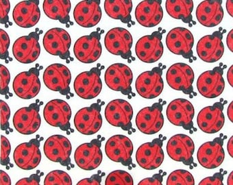 "Printed Felt Rectangle: Ladybugs (9""x12"")"