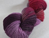 NEW Yarn Hollow Wise Goat Hand Hand Dyed Single Ply Wool/Mohair Red Hot Nights Multi Color