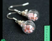 OUTLET: Hollow glass dome earrrings with Murrini's