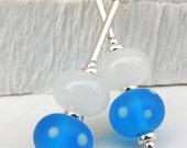 Elsa Handmade Lampwork Bead Dangle Earrings