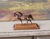 Dolls House Miniature Rusty Horse Sculpture in 1:12 scale
