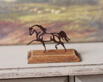 Dolls House Miniature Rusty Horse Sculpture in 1:12 scale