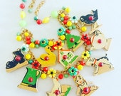 Vintage Toy Statement Necklace - Toy Story