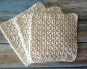 Washcloth Hand Crocheted Knit Cotton Cloth