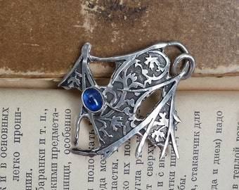 Kyanite Maple branch pendant. Nature inspired organic necklace. Twig jewelry