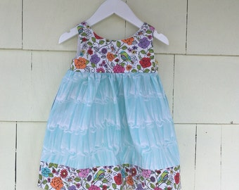 Pocket Dress - infant toddler -Garden Party Ruffles - Easter  - Every Day - cotton