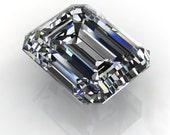 SUPERNOVA moissanite - emerald cut moissanite, loose stones, colorless moissanite