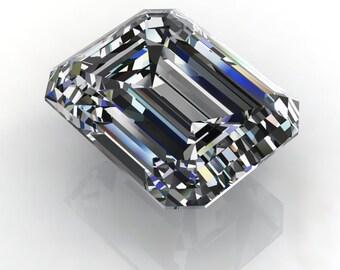 SUPERNOVA moissanite - emerald cut moissanite, loose stones, colorless moissanite