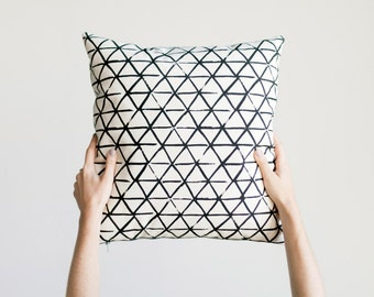 Axis Pillow Cover on Natural