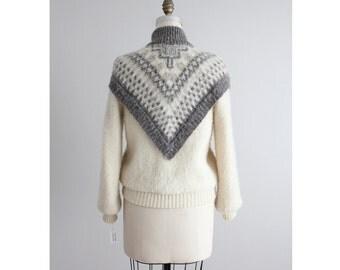 icelandic wool jacket / fair isle coat / blanket coat