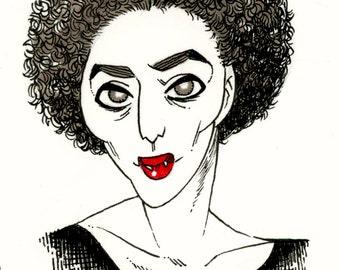 Inktober: Janice the Vampire