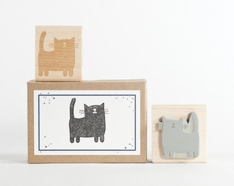 Cat Rubber Stamp Cat Lovers Cat Ladies