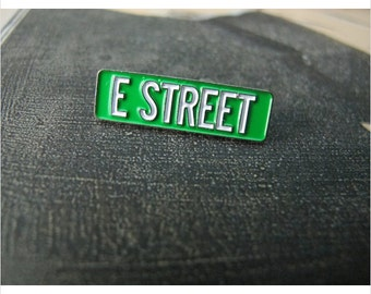 E Street - Bruce Springsteen & the E Street Band  Enamel Pin by Print Mafia®