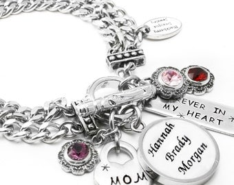 Personalized Mother's Birthstone Jewelry, Grandmothers Jewelry, Grandchildren Jewelry,  Mother's Bracelet, Grandchildren Bracelet