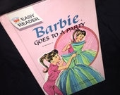 1964 Mattel Barbie Goes to a Party Book