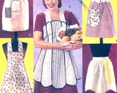 American Hostess apron collection Vintage Reproduction Sewing pattern Full short Mothers Bakers Chefs McCalls 3979 UNCUT
