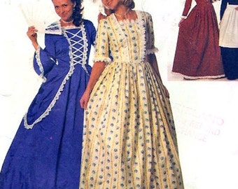 Marie Antoinette dress costume sewing pattern Simplicity 9713 Historical costume collection Theatre play UNCUT Size 10 to 14