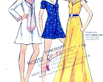 Vintage Nautical dress sailor bridesmaid wedding party 70s Butterick 6705 vintage sewing pattern Bust 34