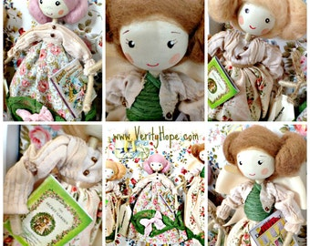 Verity Hope storybook ornament doll