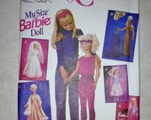"""My Size Barbie Doll Clothes - Uncut Unused Vintage Pattern - Simplicity 8817 Size 36"""" and/or 3 ft"""