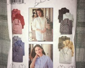 CLEARANCE Uncut Vintage Simplicity pattern No. 9818 – Size P 12, 14, 16 - MISSES' SHIRT Short or Long Sleeves
