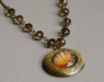 Coming Up Daisies Photo Locket Necklace by Happy Shack Designs