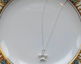 LITTLE STAR Sterling Silver Swarovski Crystal Star Necklace