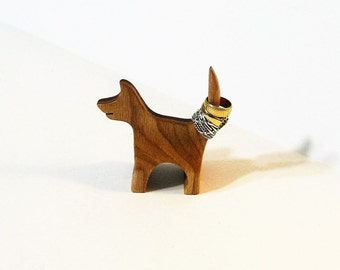 Dog Ring Holder Made Of Two Woods