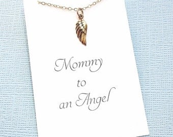 Miscarriage Necklace | Angel Wing Necklace, Infant Loss Jewelry, Sympathy Gift, Loss of a Child, Miscarriage Quote, Condolence | R02