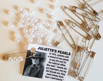 Girl Scout SWAPS Juliette's Pearls - Craft kit