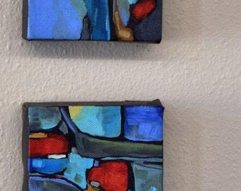 Small Abstract Painting Original Wall Art Contemporary Art Original Painting Modern Decor by Dana Marie