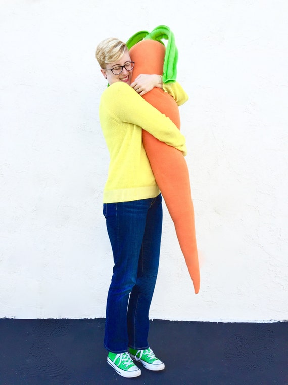 Carrot Pillow - Giant 4 Foot Long Body Pillow for Loneliness - Easter Bunny Prop
