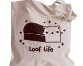 LOAF LIFE Tote Bag - Kawaii Cat Loaf Totebag Purse