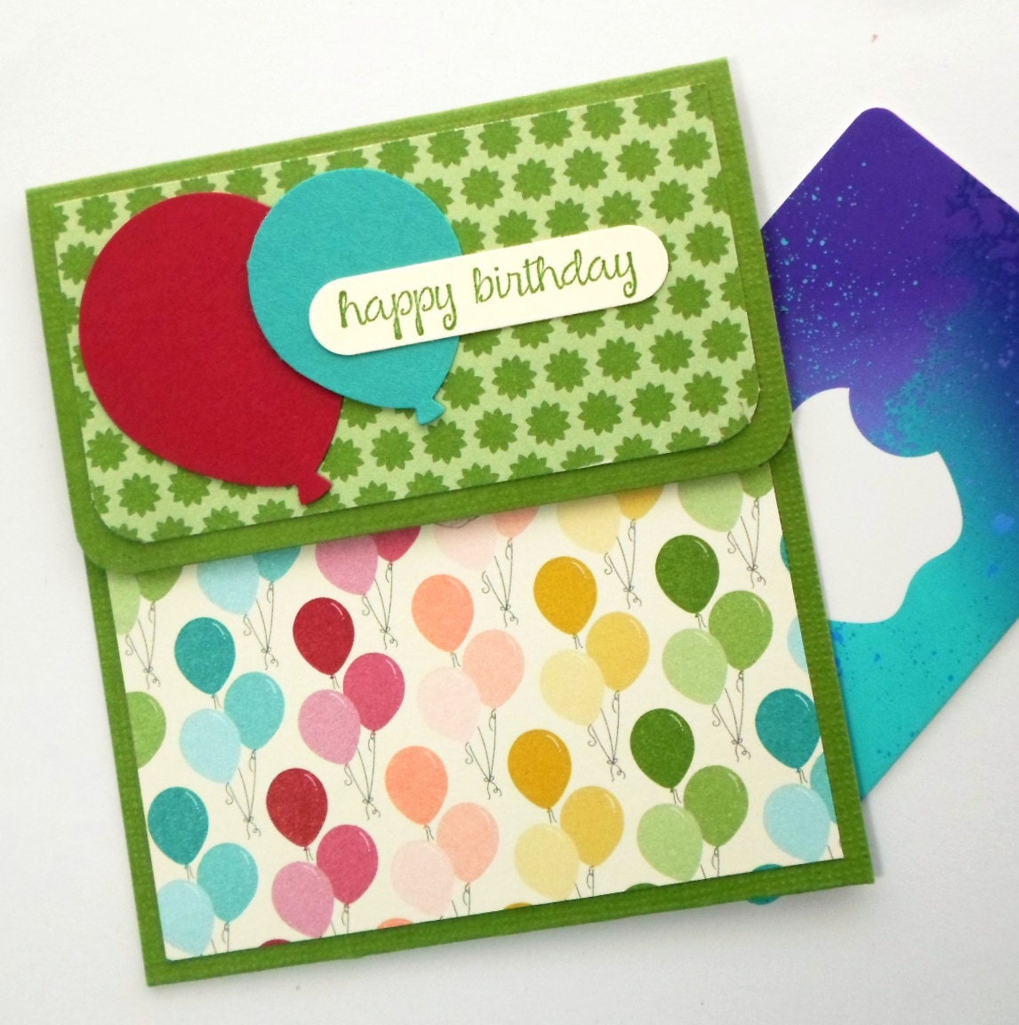 Birthday Gift Card Holder Happy Birthday Card By