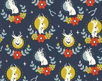 Birch Tall Tales Jackalope Dusk Organic Cotton Fabric