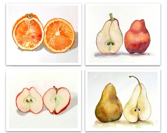 Wall Art Decor fruit Art Prints Sale 20% off set of 4 Prints any artwork your choice of 4 Kichen artwork 4 Gifts Botanical still life