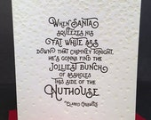 Jolly Christmas - Clark Griswold Christmas Vacation quote - Letterpress Card