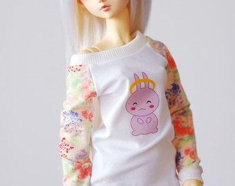 Bunny pastel long top dress - Delf SD BJD doll clothes
