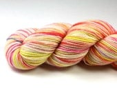 Peach Schnapps--hand dyed sock yarn, 2ply BFL and nylon, (400yds/100gm)