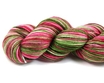 Peony--hand dyed sock weight yarn, MCN (435yds/100gm)