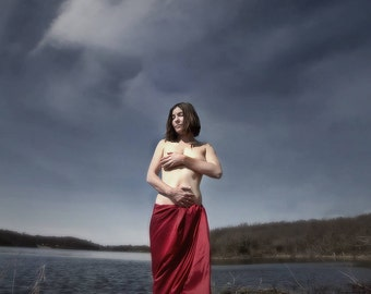 Goddess Photography Ethereal Mythological Venus Lake Portrait on Aluminum