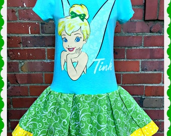 girls TINKERBELL Dress 4T last one  ready to ship