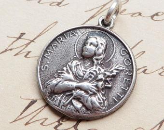 St Maria Goretti / Sacred Heart of Jesus Medal - Patron of girls, rape victims