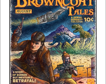 Browncoat Tales Firefly Pulp Magazine Cover (Limited Edition) signed print